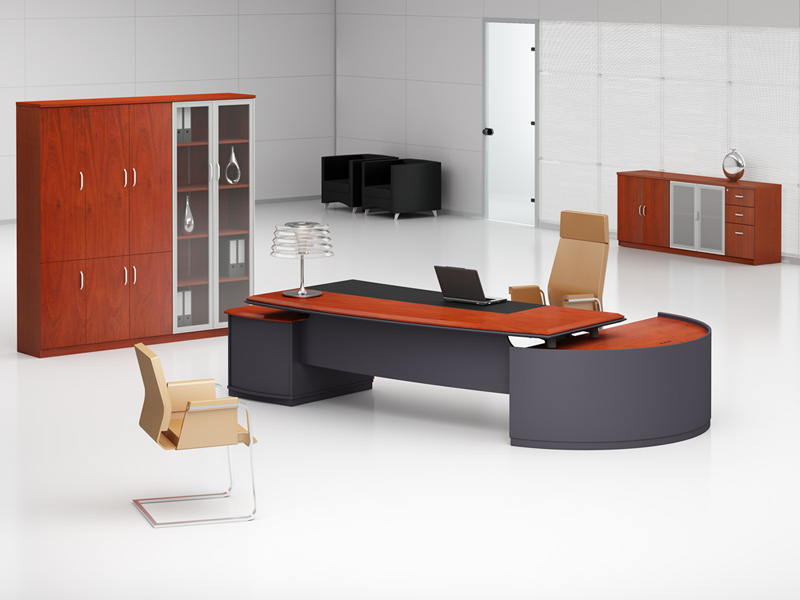 Büromöbel Bergamo - Schreibtisch und Aktenschrank